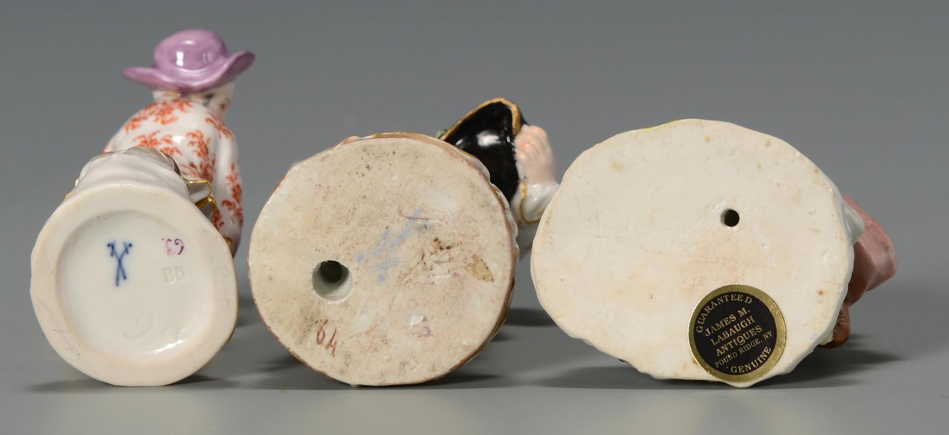 Lot 328: Three Meissen Figurines