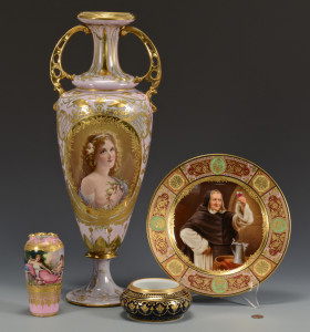 Lot 329: 4 pcs. Dresden Porcelain