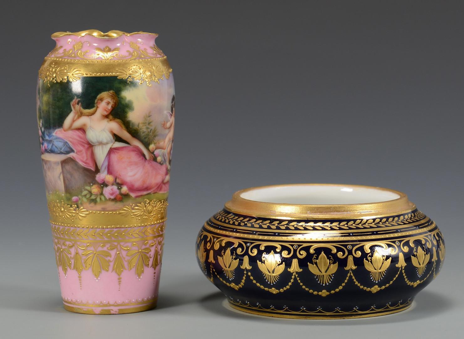 Lot 329: 4 pcs. Dresden Porcelain