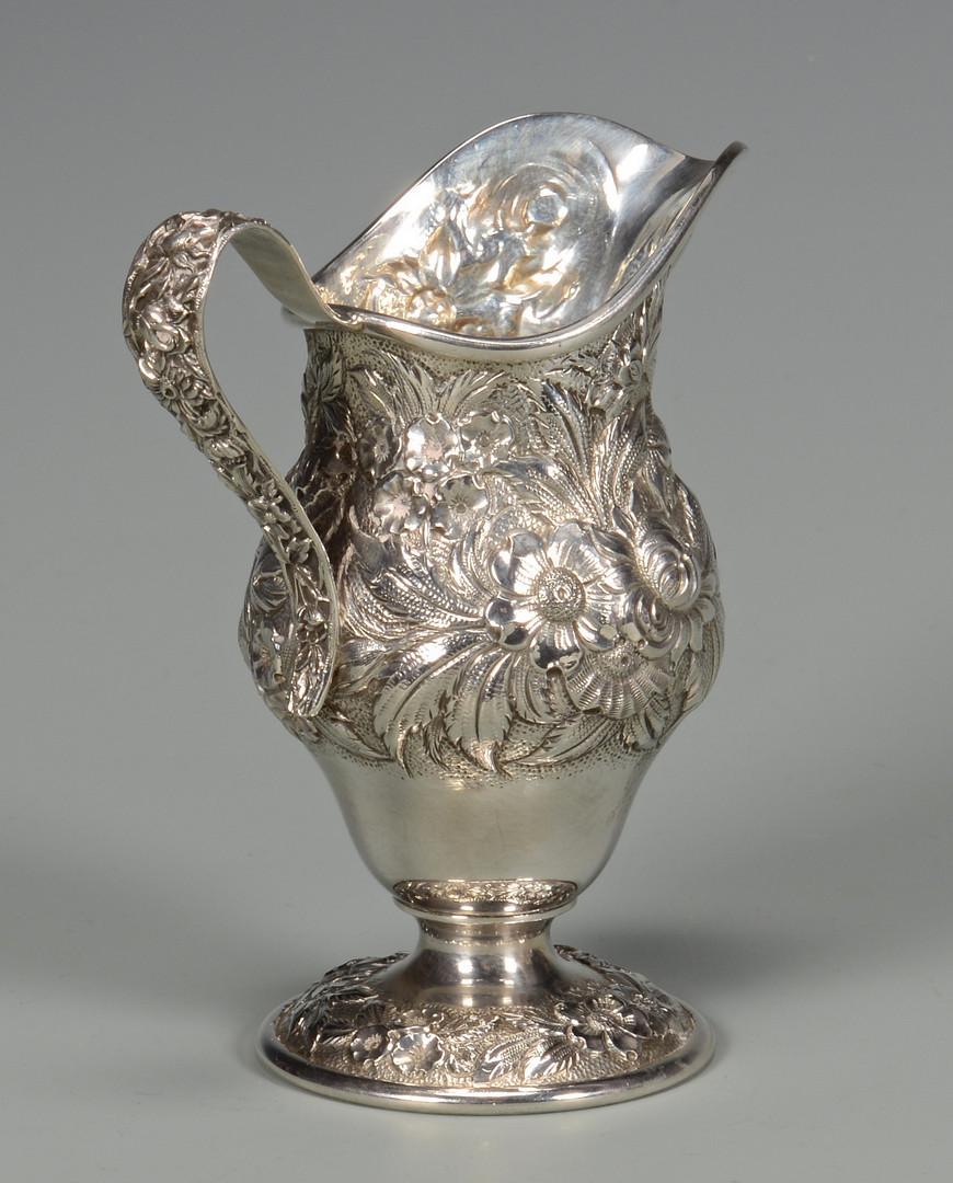 Lot 32: Kirk Repousse Sterling Tea Set