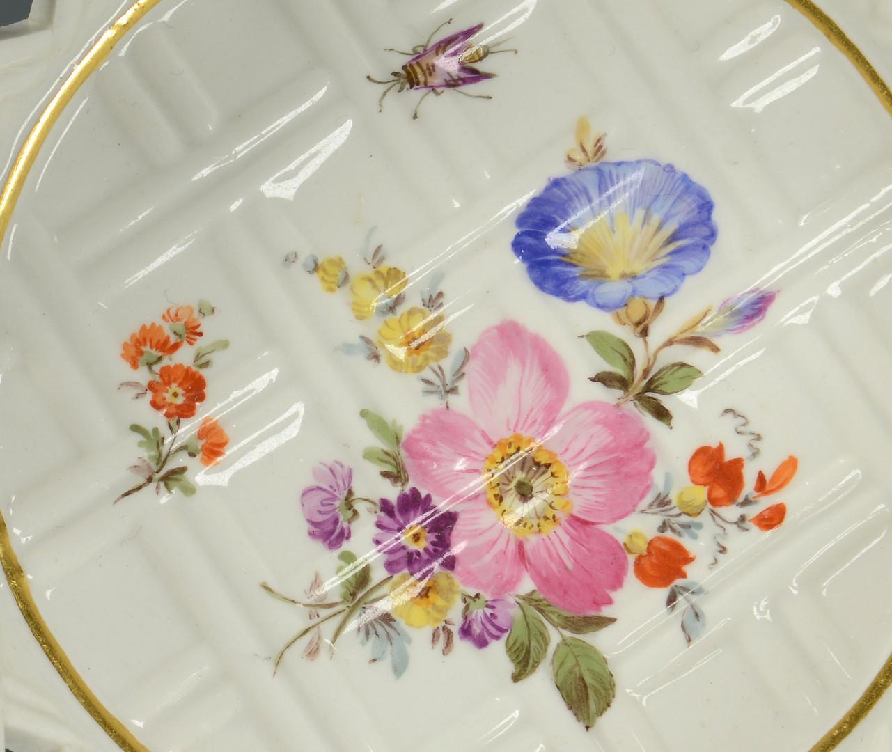 Lot 330: Pair Meissen Floral Baskets
