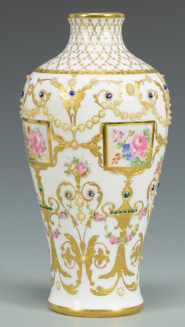Lot 333: Royal Vienna Vase, jeweled decor