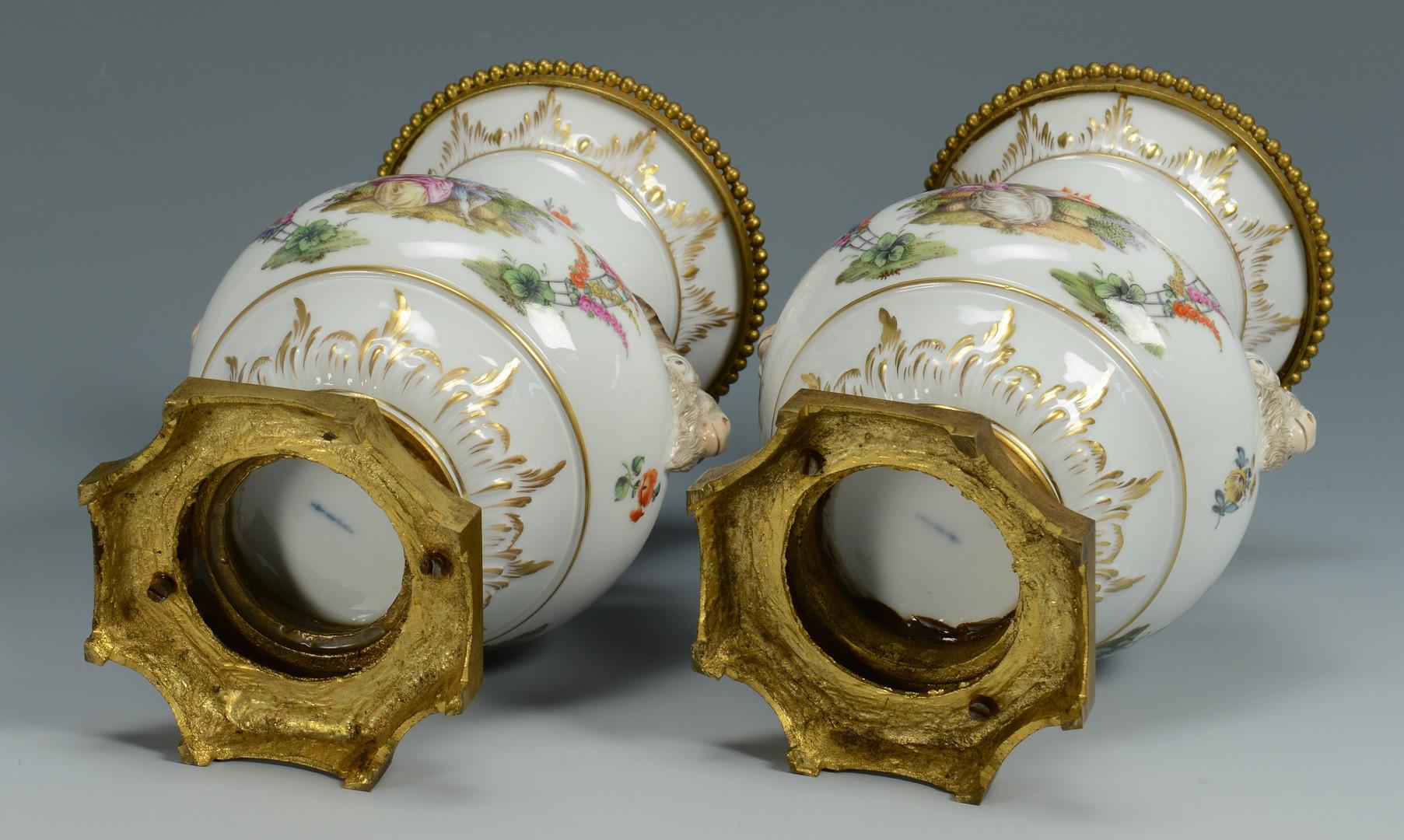 Lot 335: Pr. German KPM Porcelain Urns