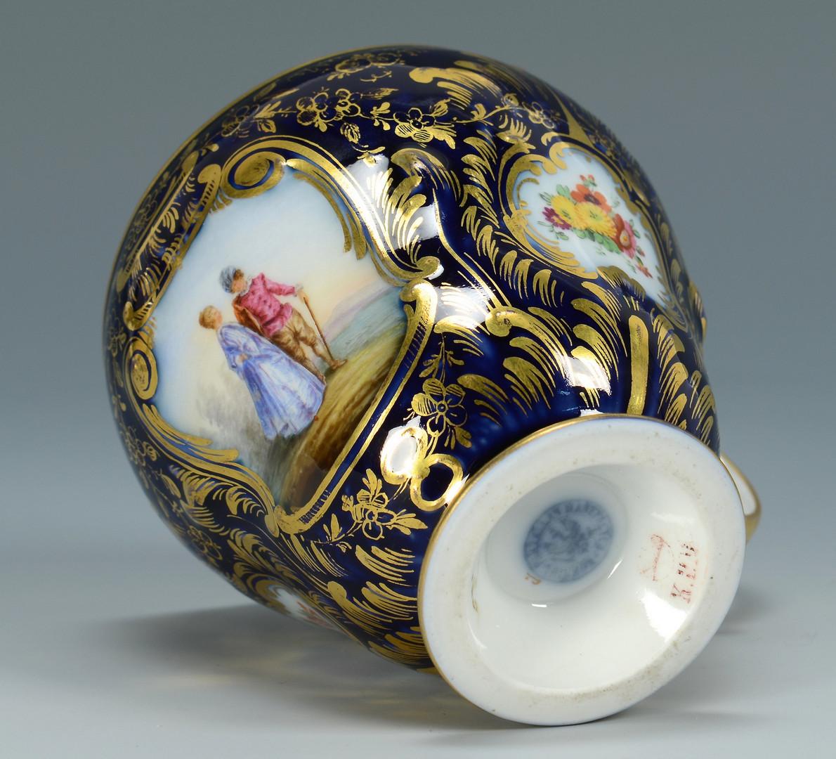 Lot 336: 3 Pcs. Continental Porcelain