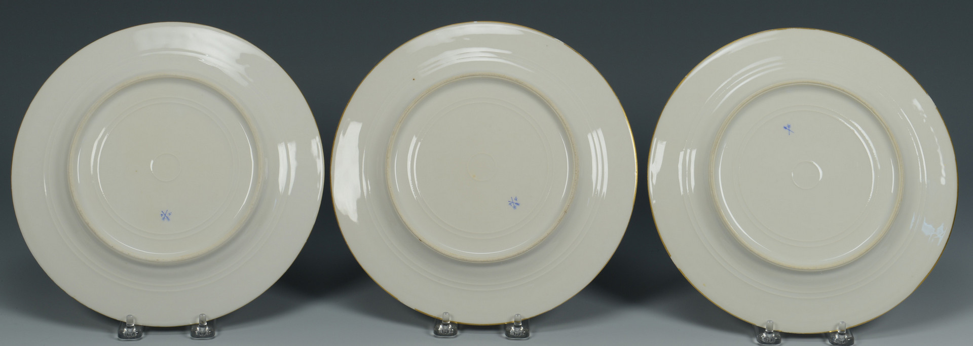 Lot 339: 8 French Porcelain Plates