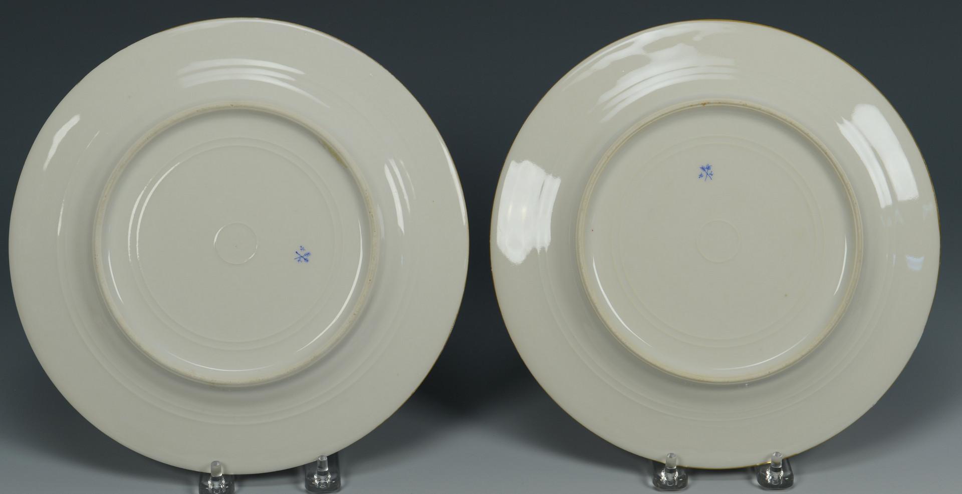Lot 339: 8 French Porcelain Plates