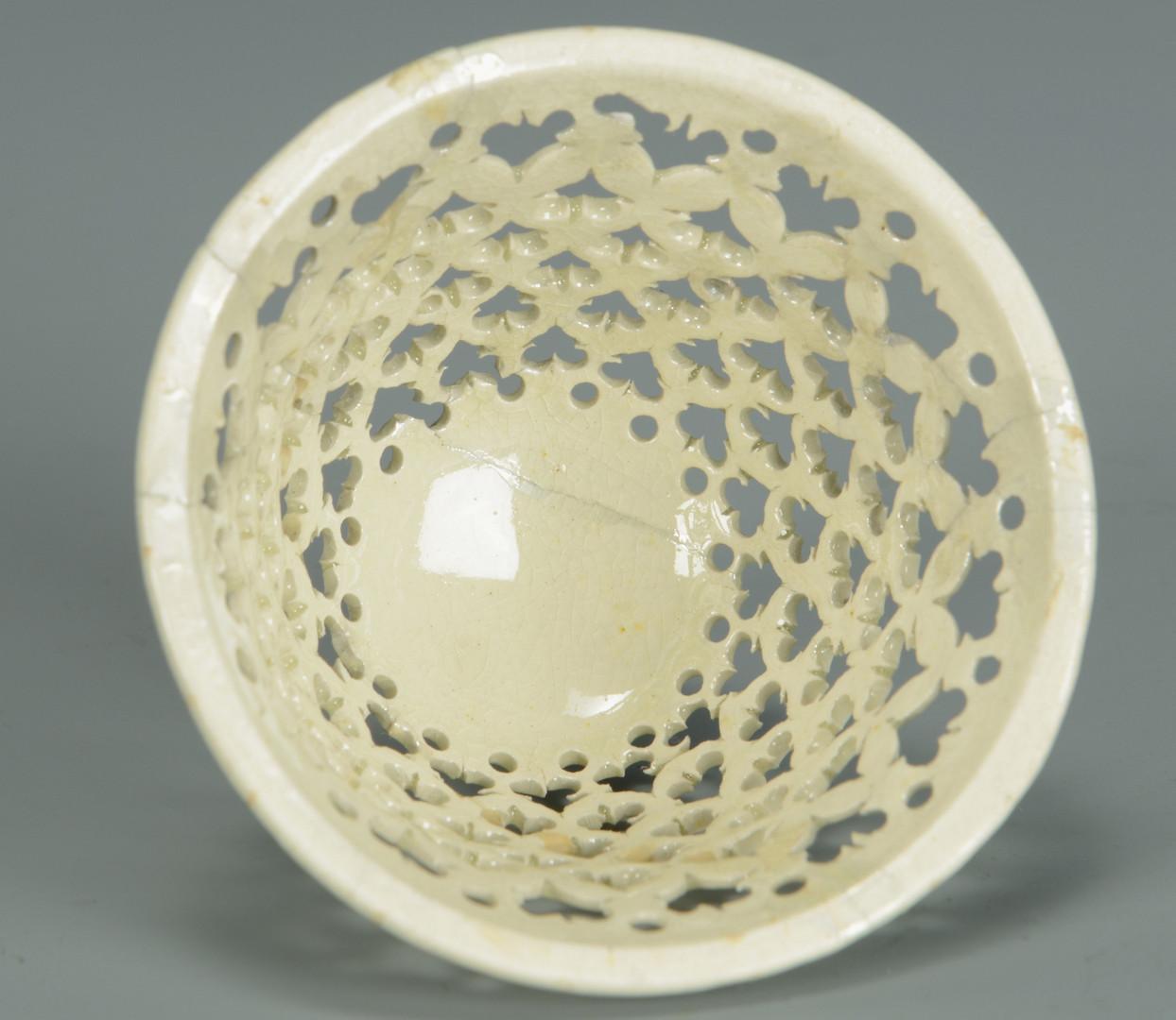 Lot 345: Pair Creamware Urns