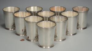 Lot 34: 10 Kirk Sterling Julep Cups
