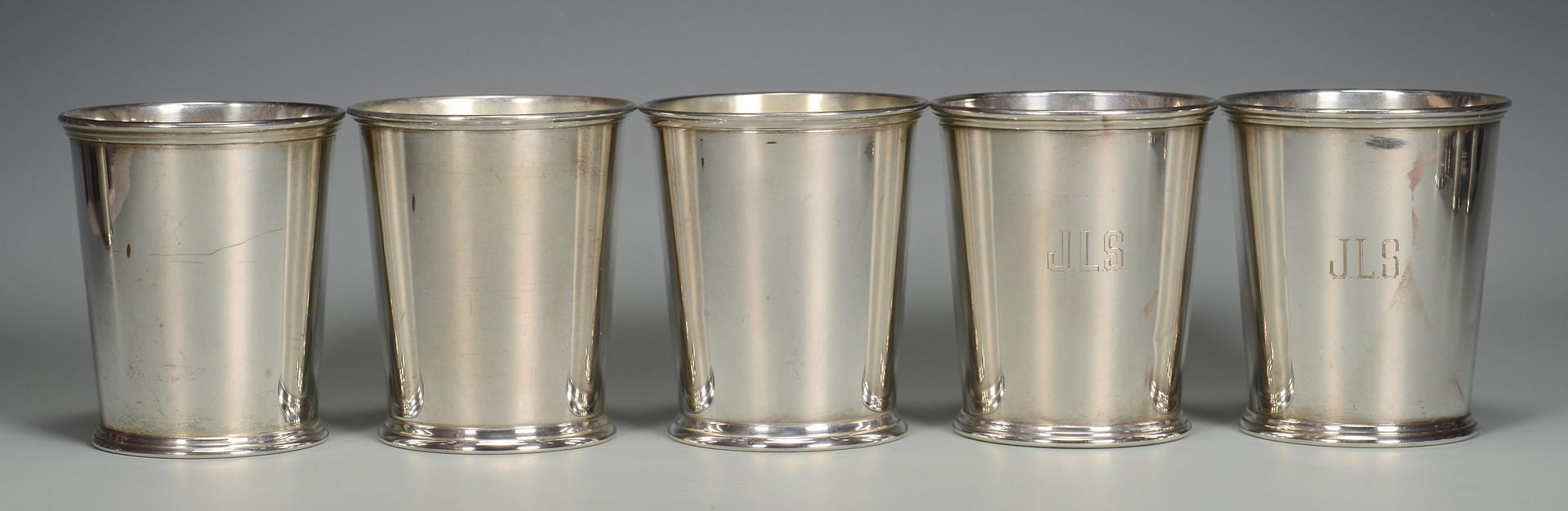 Lot 34: 10 Kirk Sterling Julep Cups