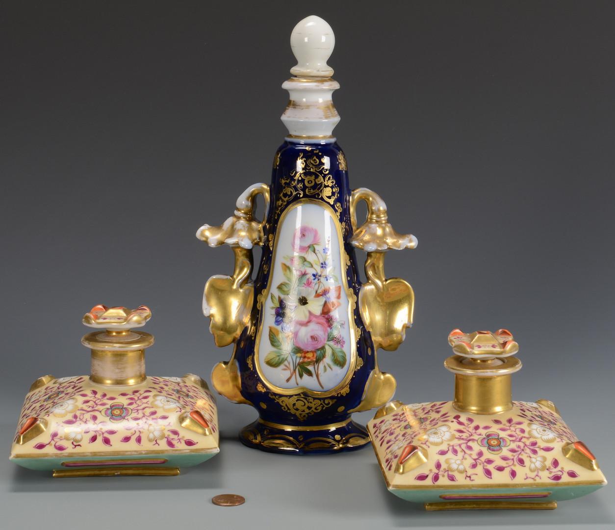 Lot 350: Old Paris Jars and Bottle, 3 items