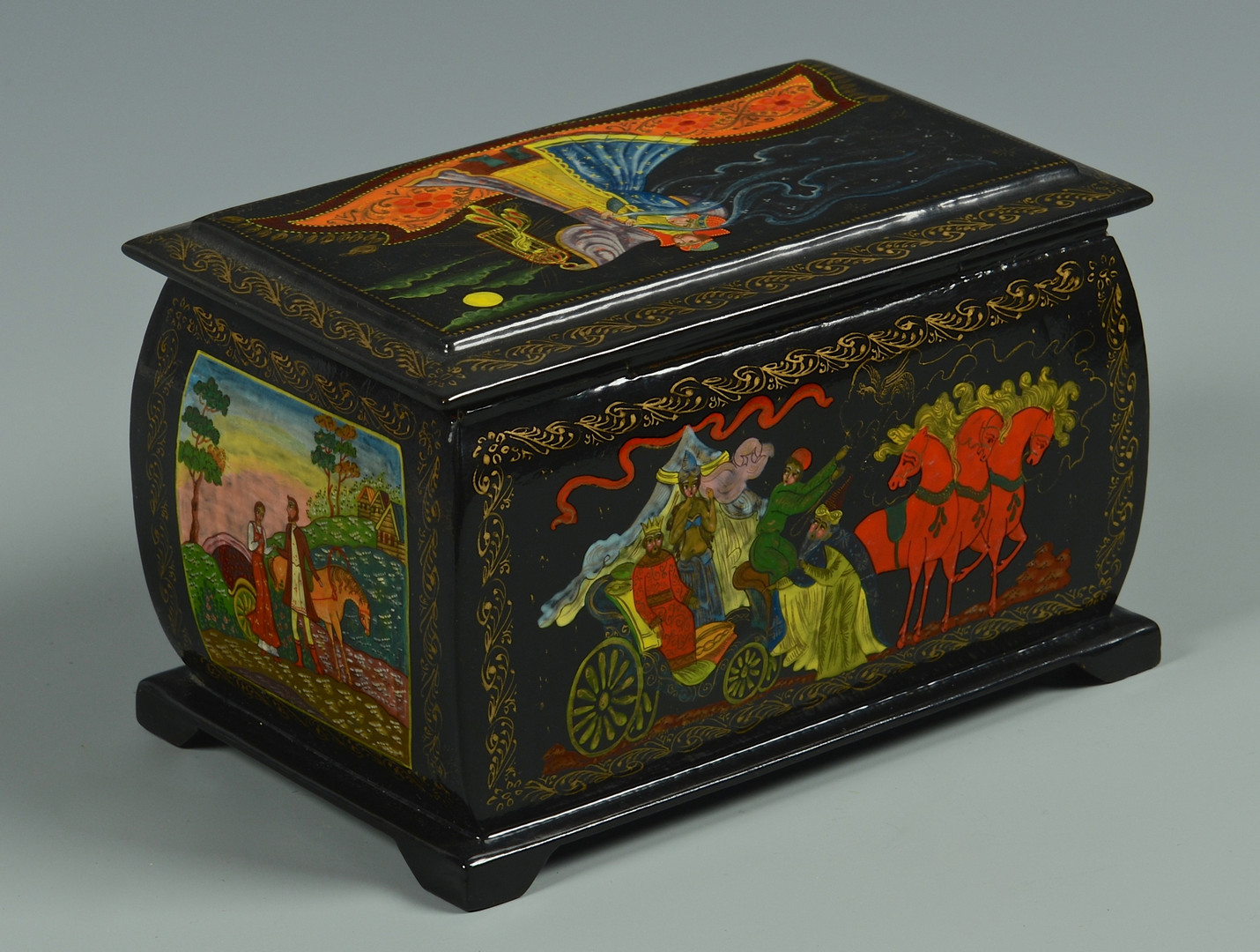 Russian Lacquer Boxes From 73
