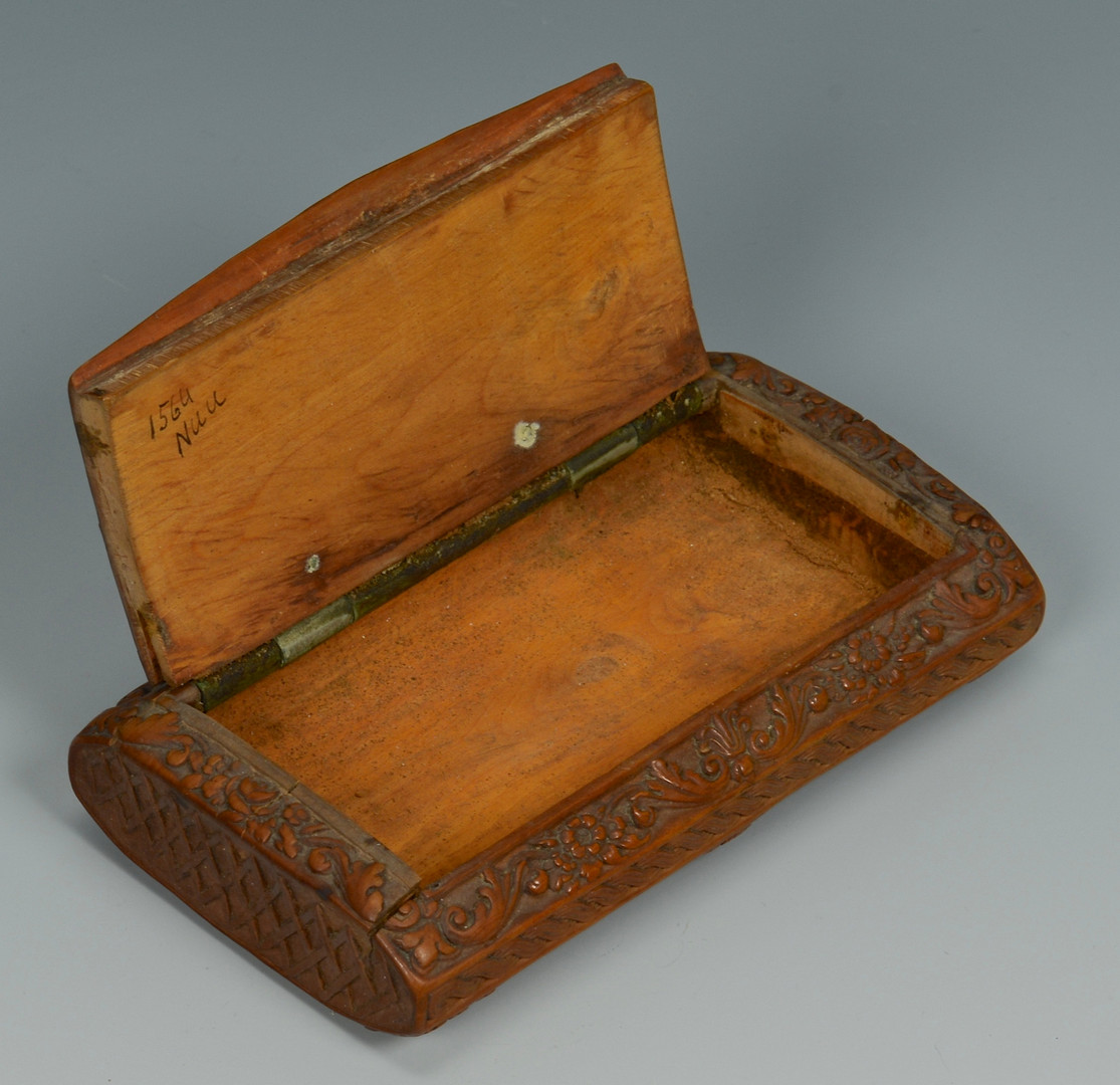 Lot 352: Carved Wood Snuff Box