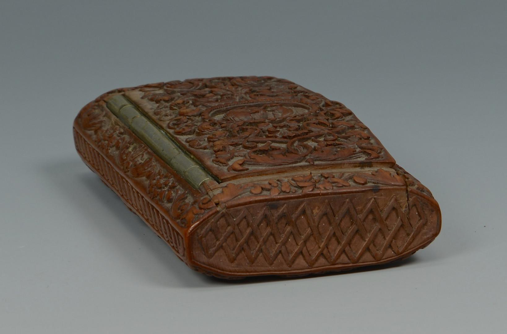 Lot 352: Carved Wood Snuff Box