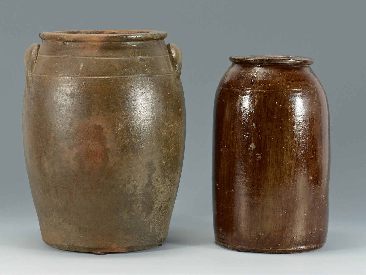 Lot 355: Two Melcher Louisville KY Jars