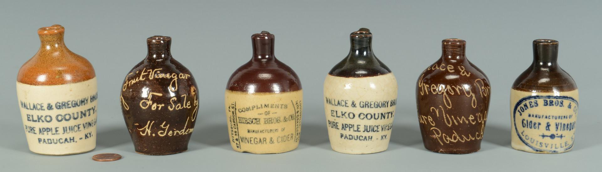 Lot 356: 6 KY Vinegar Advertising Jugs