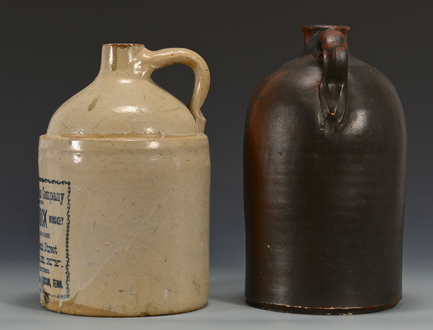 Lot 357: 2 Southern Pottery Jugs incl. 1 Whiskey