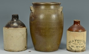 Lot 358: Nashville, TN whiskey & Decker jar