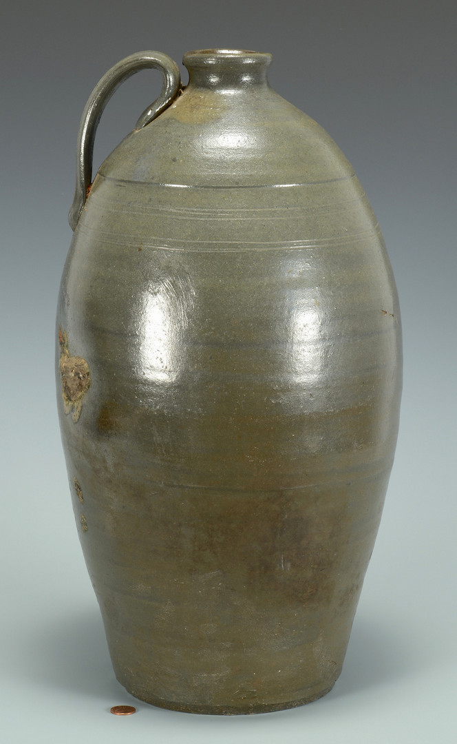 Lot 360: Large Middle TN Stoneware Pottery Jug
