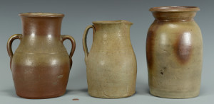 Lot 361: 3 Middle TN Stoneware Pottery Jars