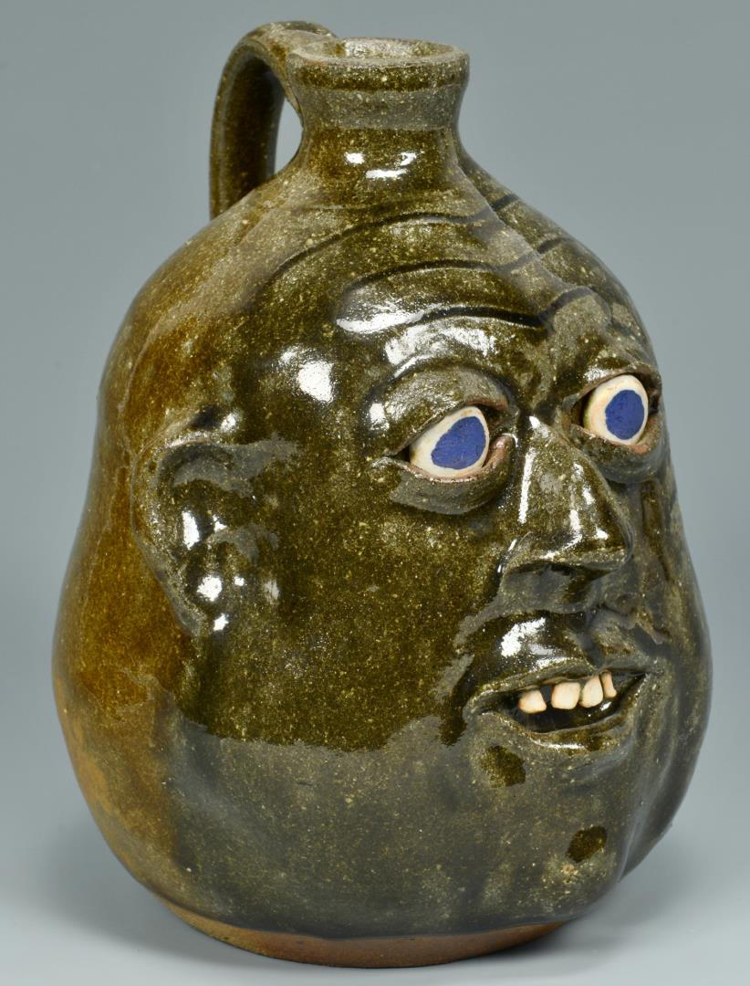 Lot 370: 2 Georgia Face Jugs and B. B. Craig Vase, 3 items