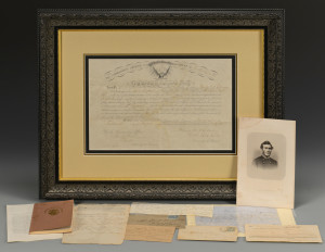 Lot 374: Group of 8 Civil War Documents & Ephemera