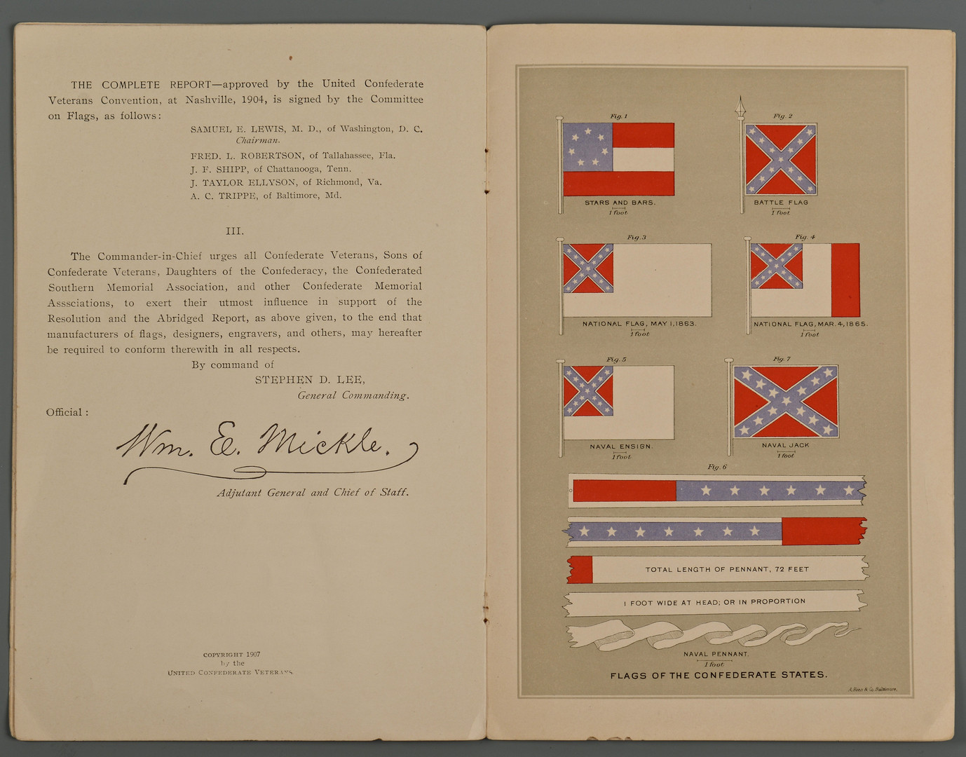 Lot 379: 3 Civil War Books & Flag Pamphlet
