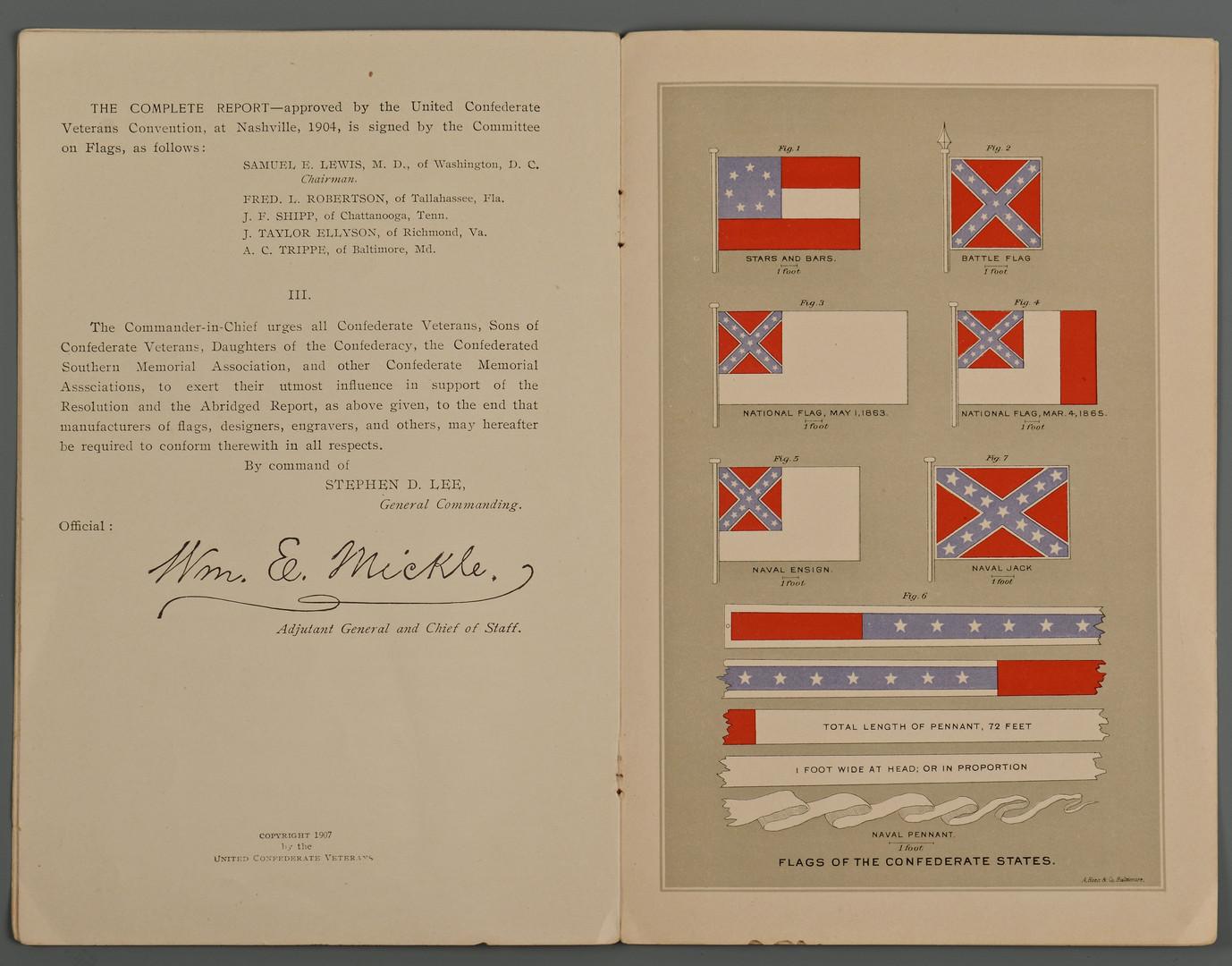 Lot 379: 3 Civil War Books & Flag Pamphlet