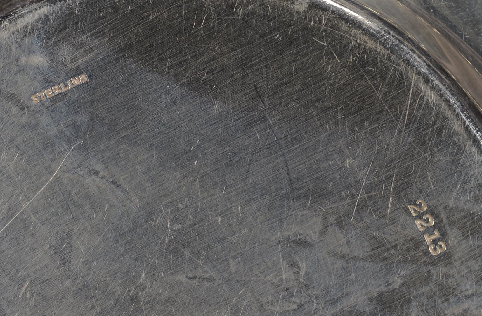 Lot 37: 12 Gorham Sterling Bread Plates w/Floral design