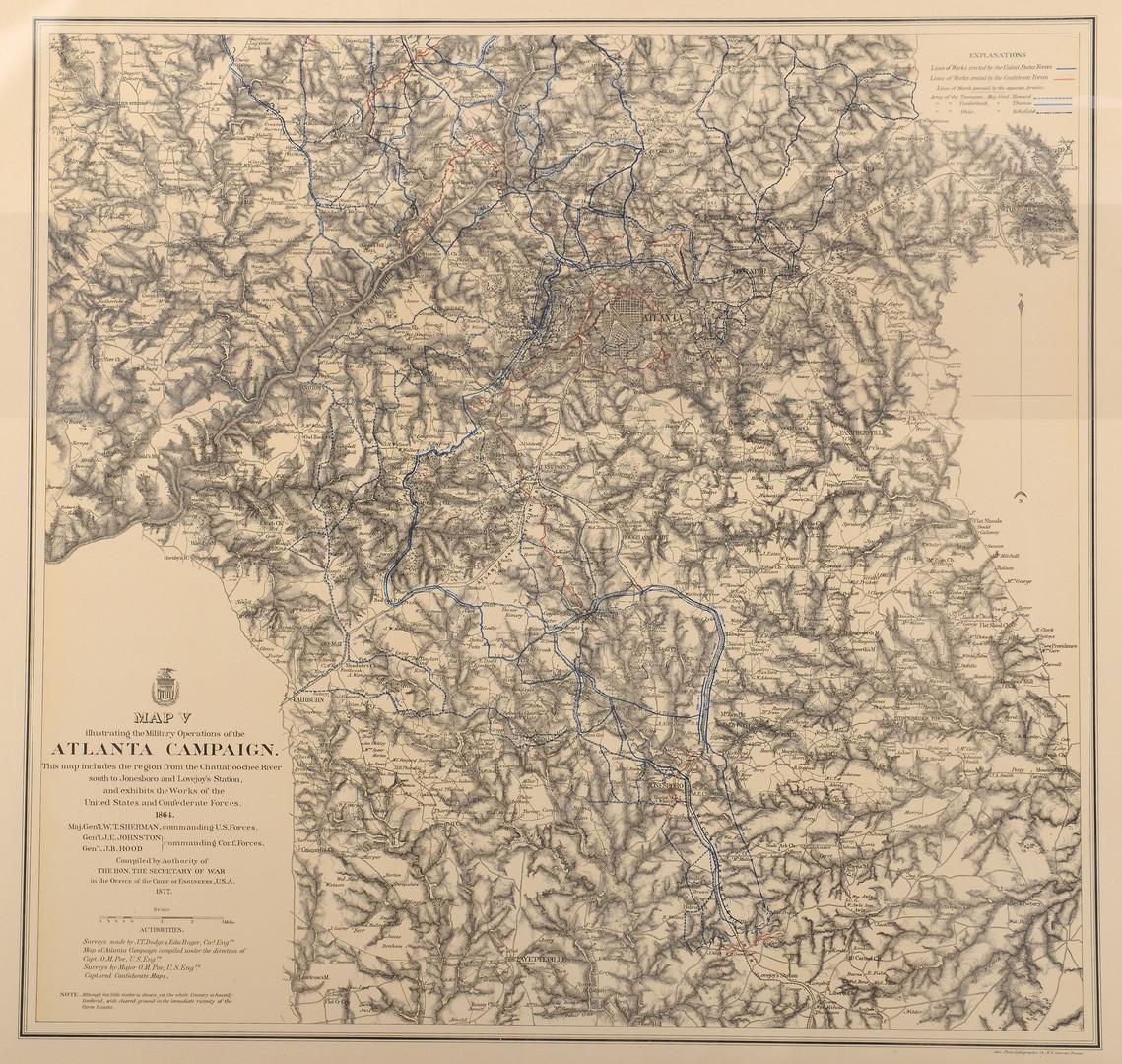 Lot 380: Atlanta Civil War Campaign Maps