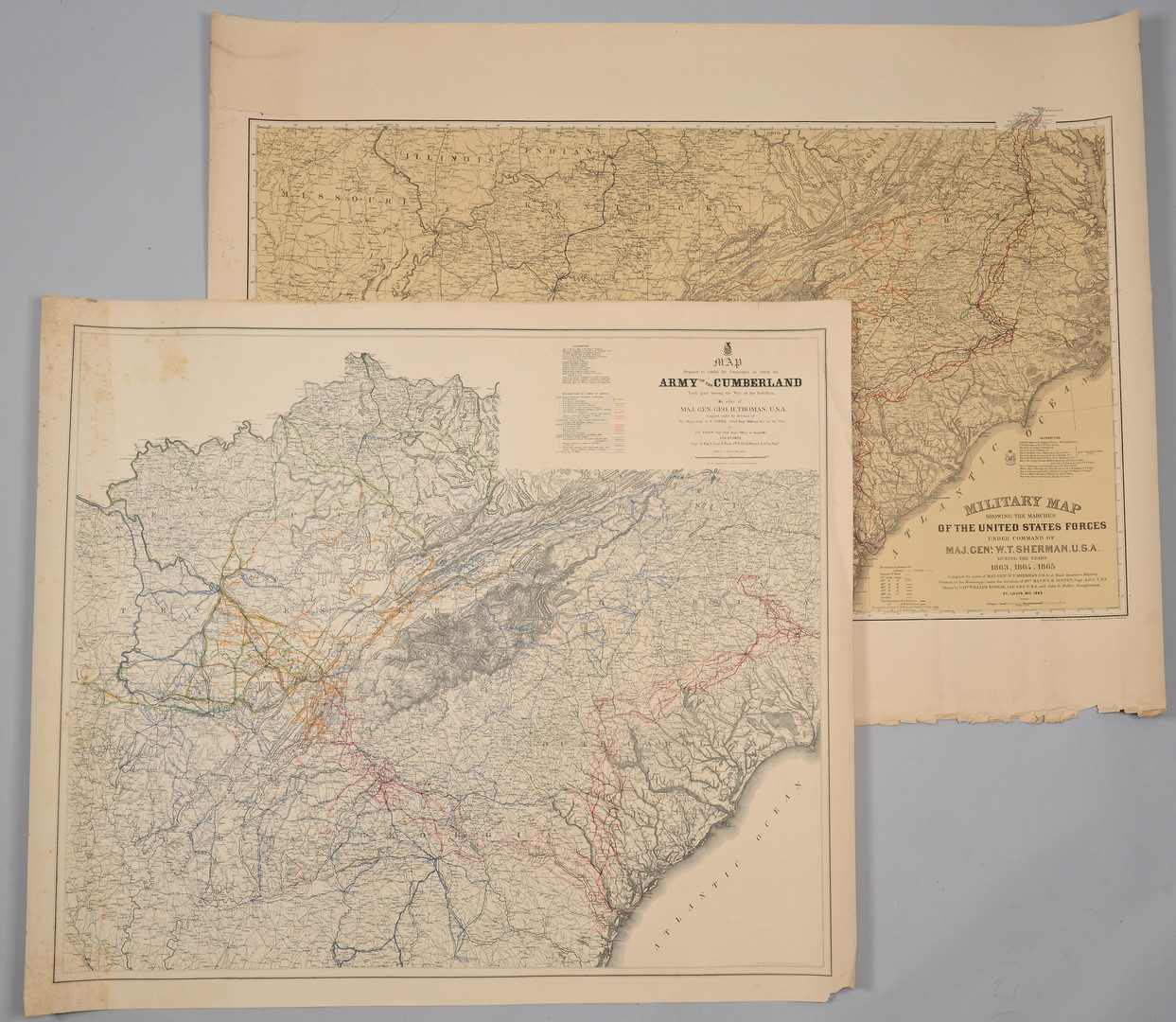 Lot 381: Ruger Map, Army of Cumberland and Command of Sherm