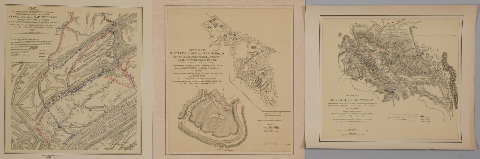 Lot 382: 3 KY-TN Civil War Maps