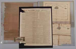 Lot 384: CSA bonds, Bill & Newspapers, 5 items