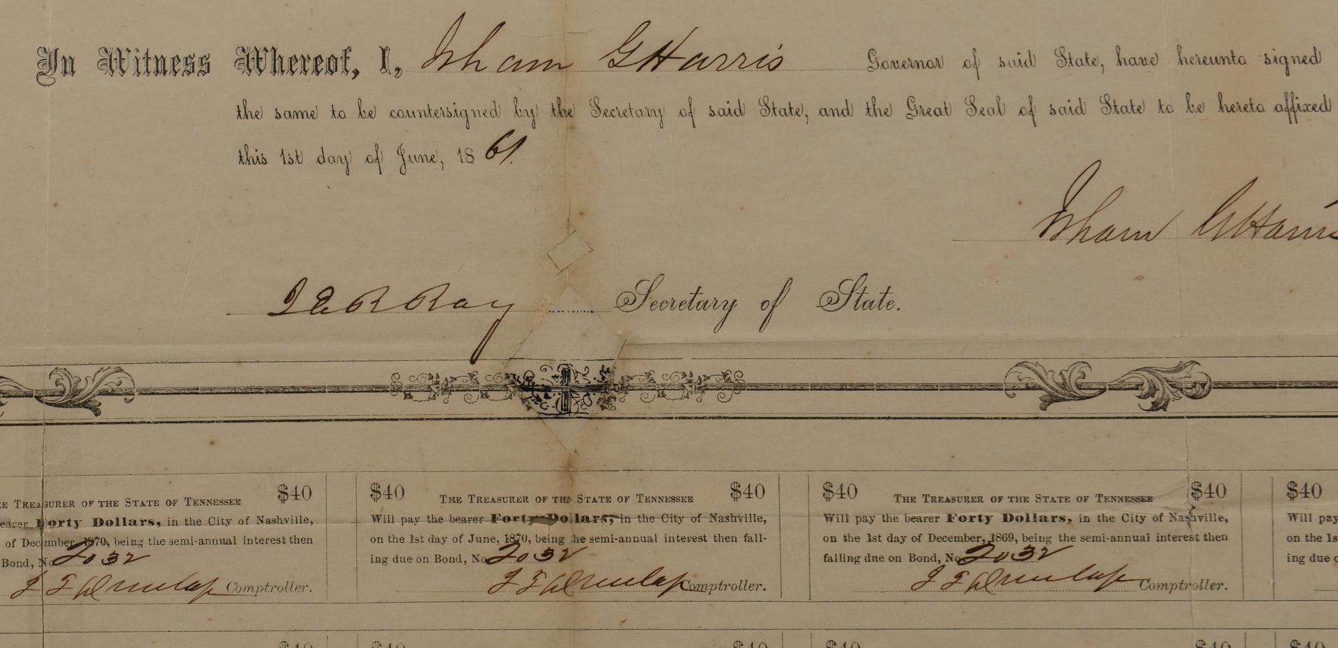 Lot 384: CSA bonds, Bill & Newspapers, 5 items