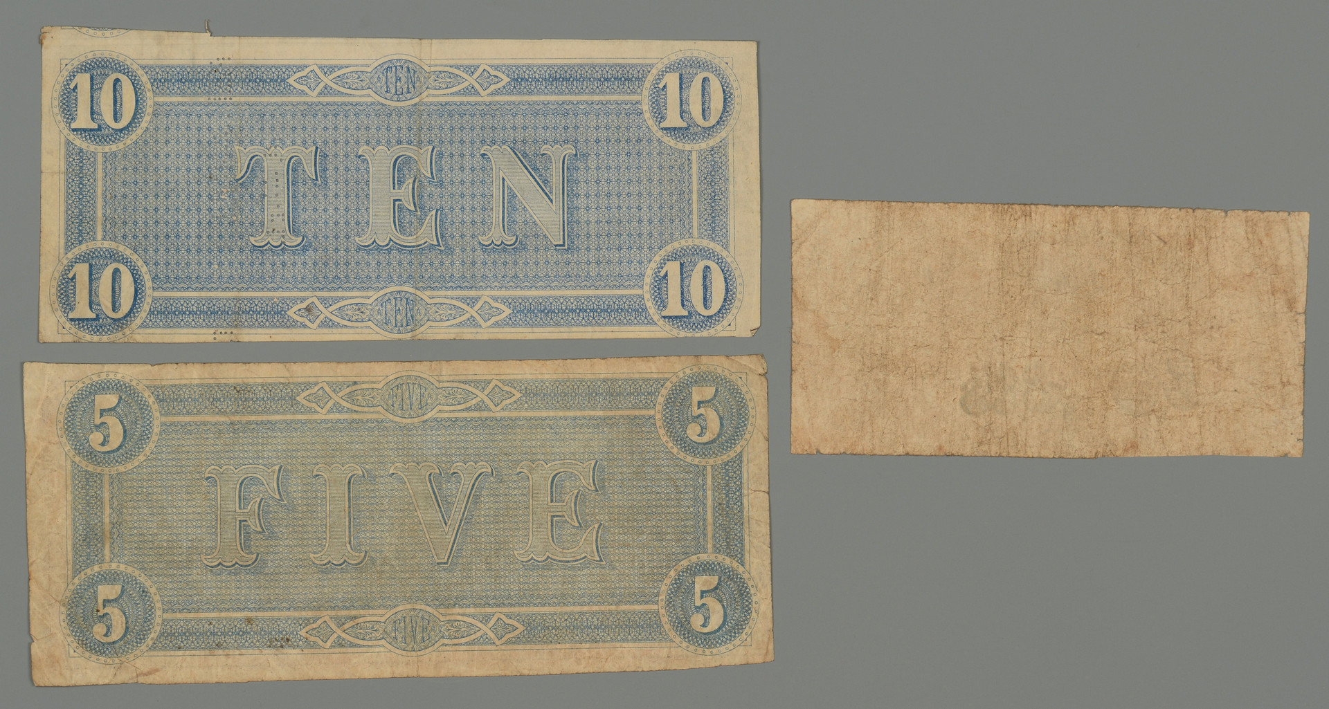 Lot 385: 4 Civil War Items inc. currency, tintype