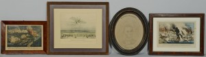 Lot 386: 4 19th c. Prints inc. Farragut, Lincoln, Aviation