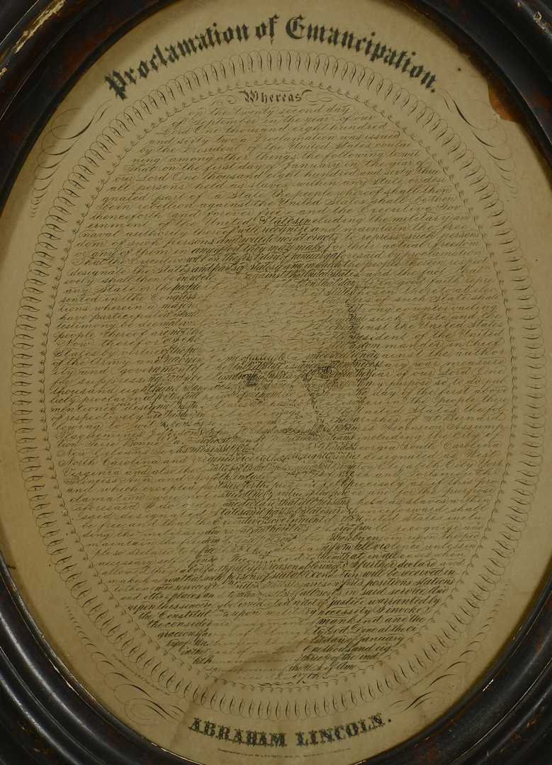 Lot 386: 4 19th c. Prints inc. Farragut, Lincoln, Aviation