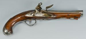 Lot 399: Flintlock Pistol with oval bore