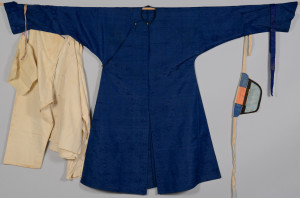 Lot 3: Qing Silk Robe w/ Undergarments