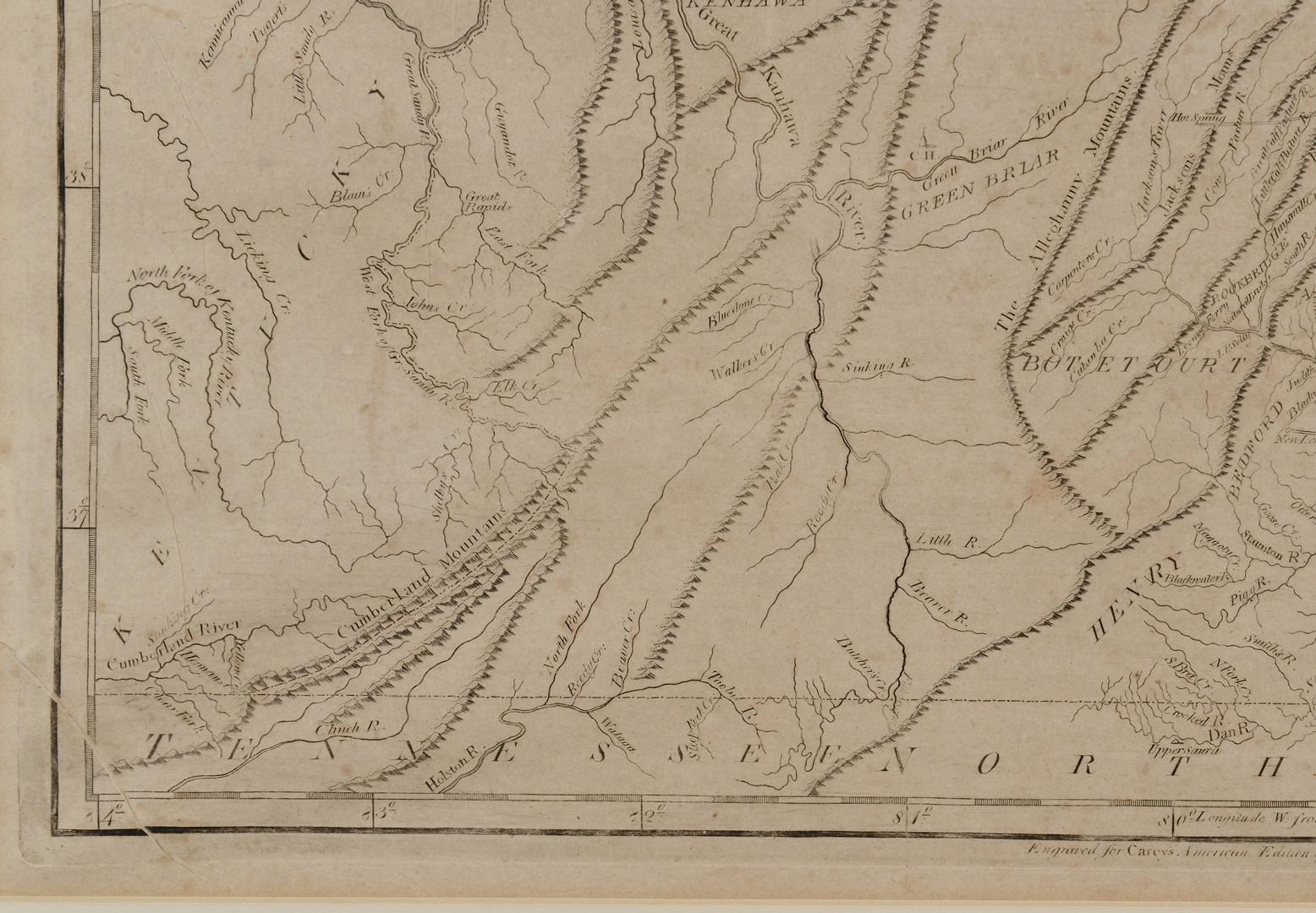 Lot 402: 1809 Map of Virginia, Samuel Lewis