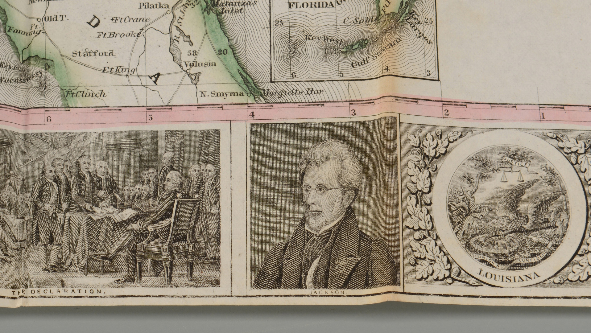 Lot 403: 1857 Phelps pocket map of United States