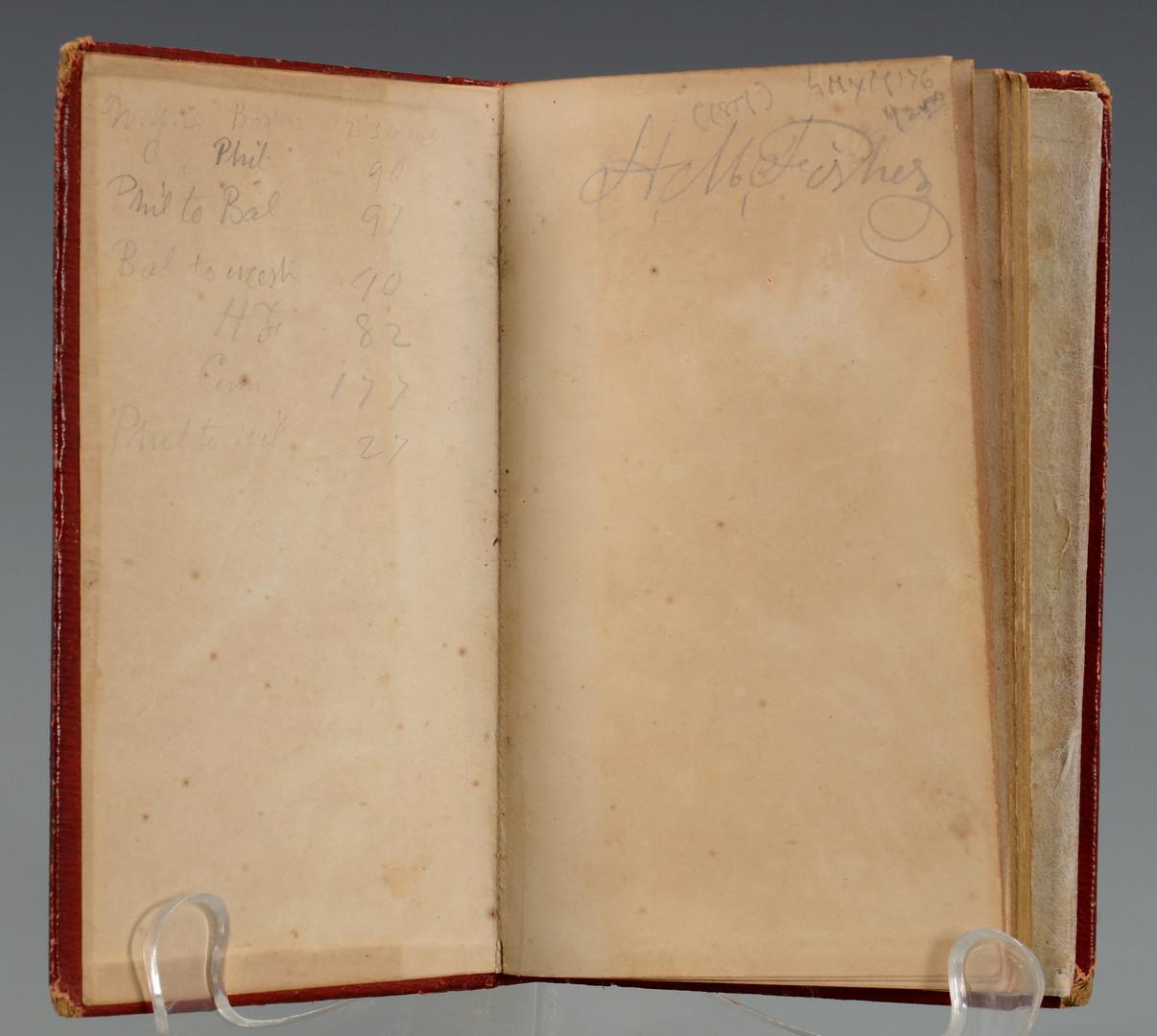 Lot 403: 1857 Phelps pocket map of United States