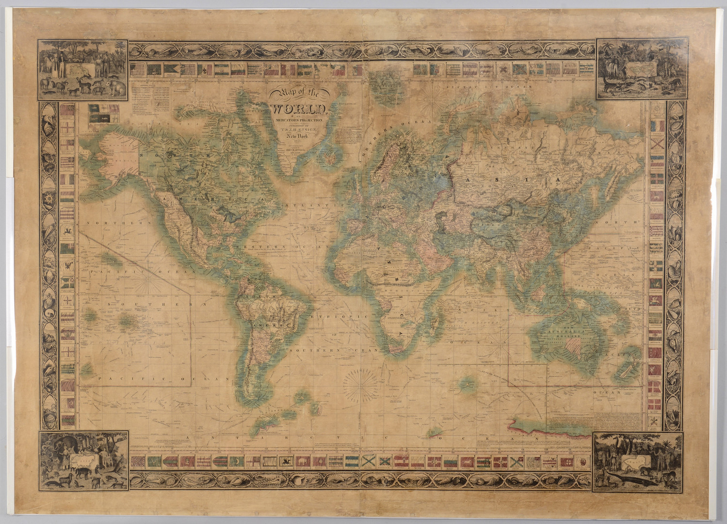 Lot 404: Ensign Map of the World