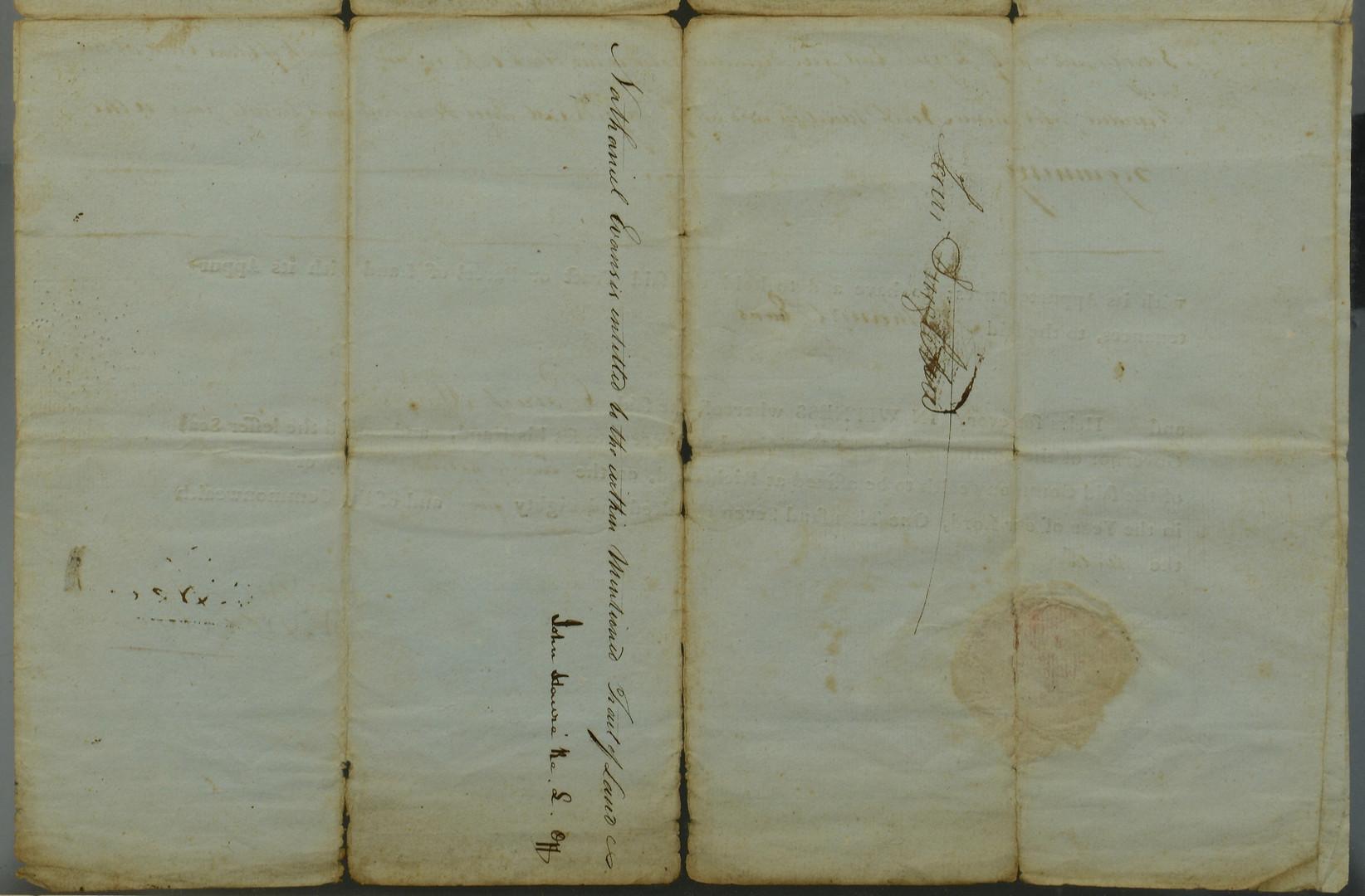 Lot 406: Patrick Henry Signed Land Grant, 1785