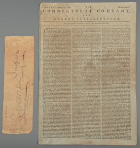 Lot 409: J. Sevier Autograph, Newspaper