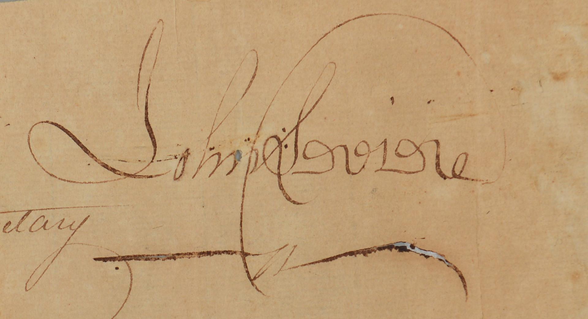 Lot 409: J. Sevier Autograph, Newspaper