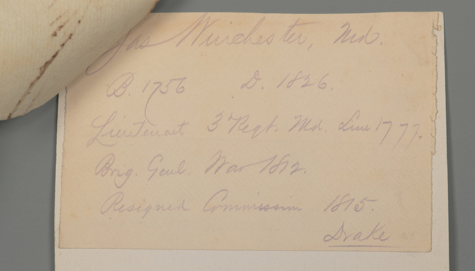 Lot 411: Winchester, McGavock signed documents