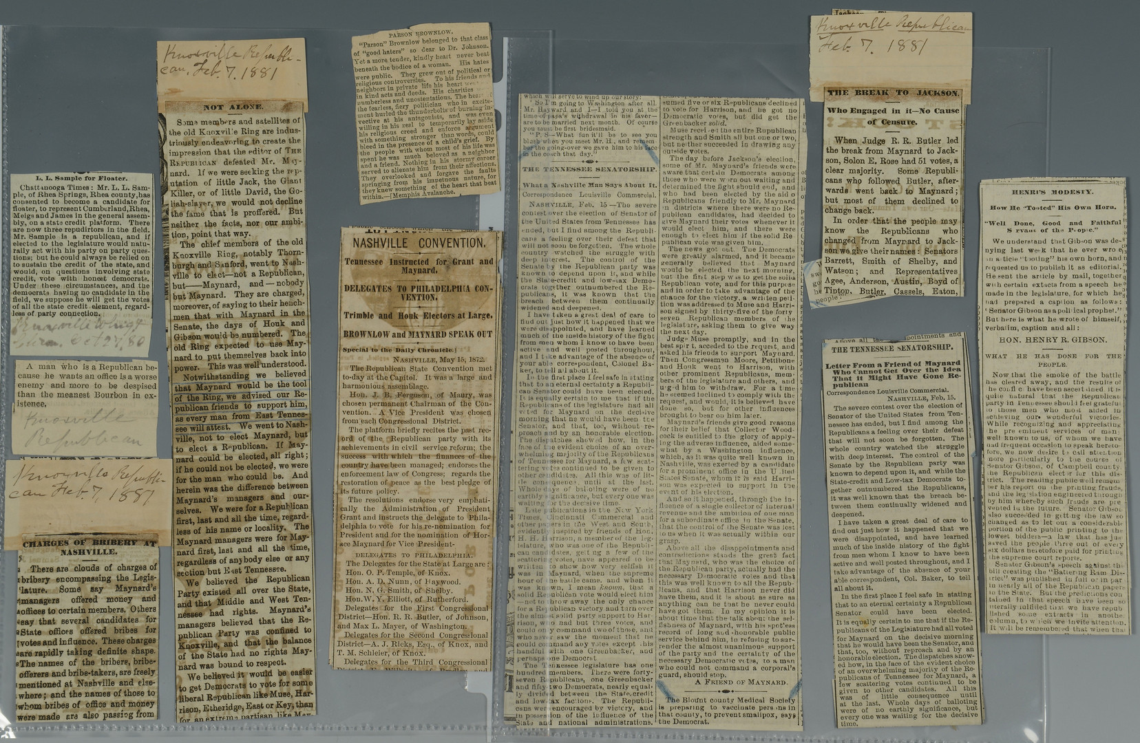 Lot 412: Brownlow Archive, Taft Letter