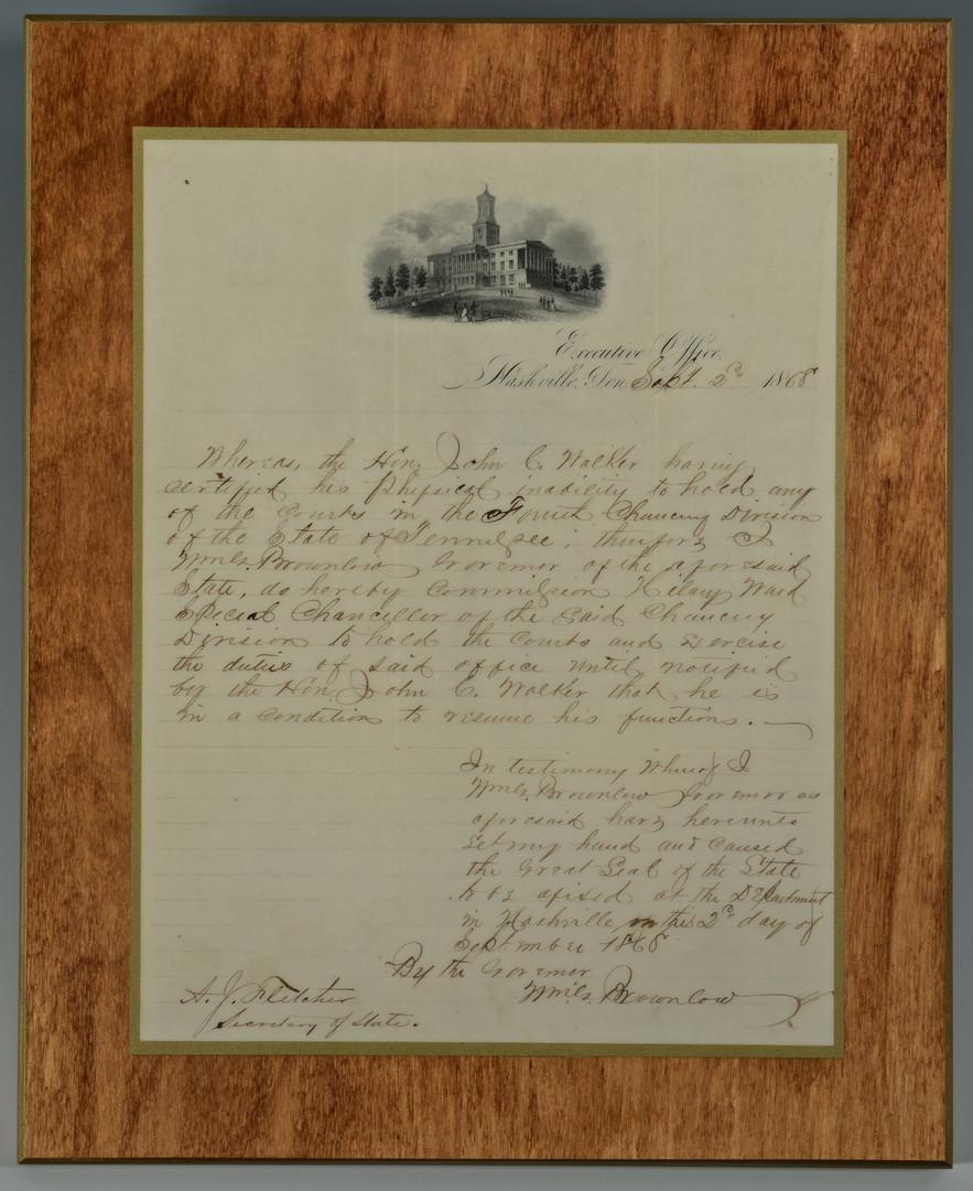Lot 413: Parson Brownlow, TN Archive