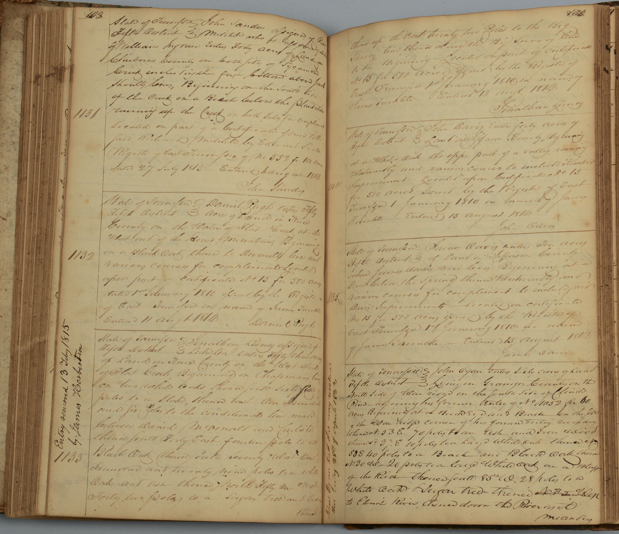 Lot 415: East TN Deed Book, 1812 – 1815