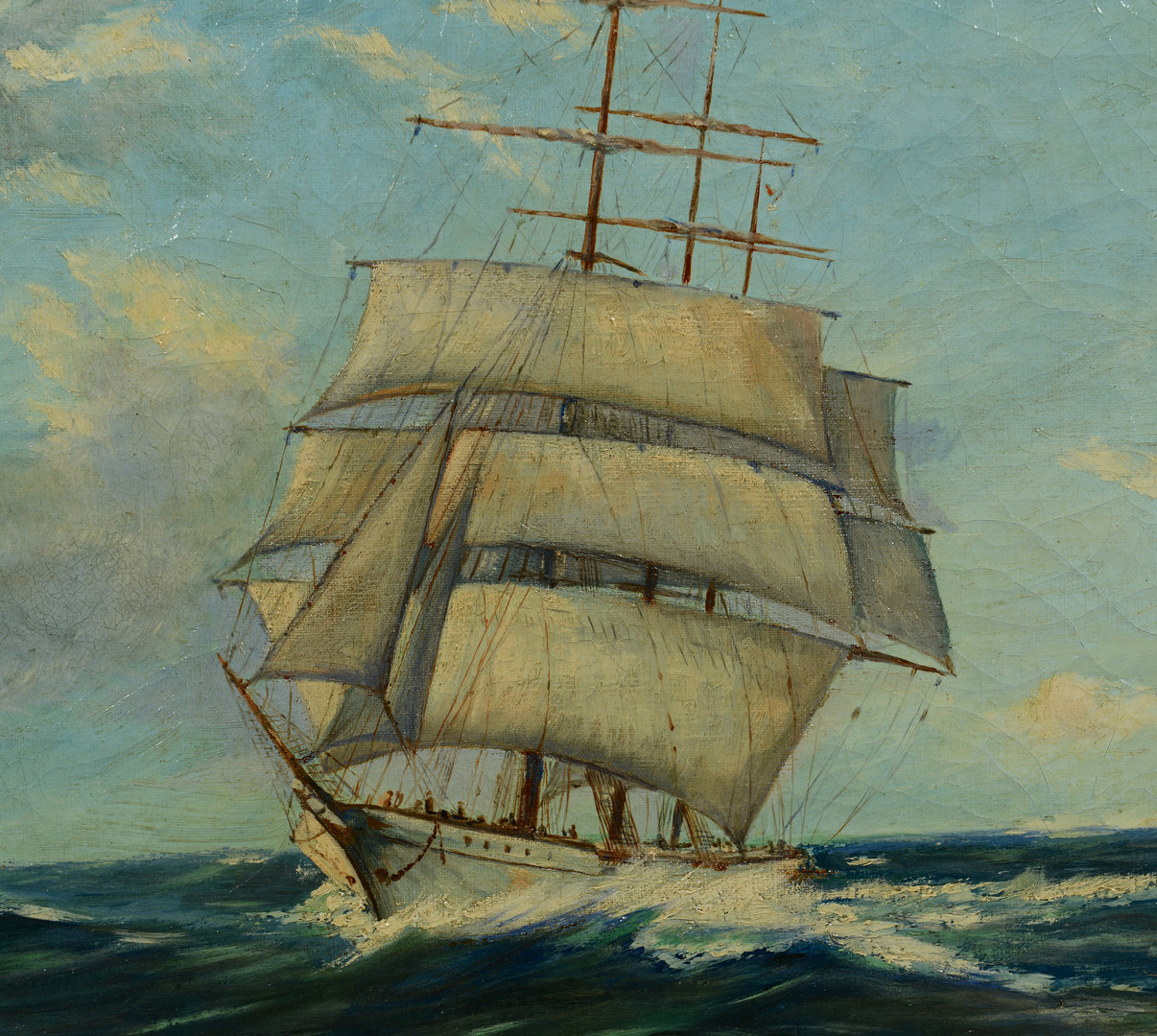Lot 419: Otto Kurth, Marine Painting